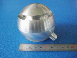 材質:A2017 球状に加工した例